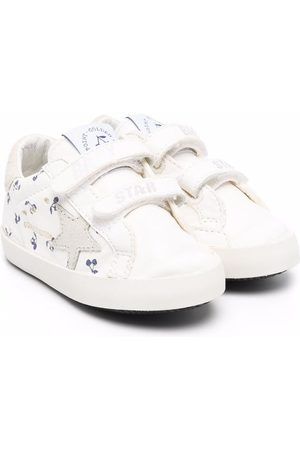 BONPOINT Baby Sneakers - Star-patch low-top leather sneakers