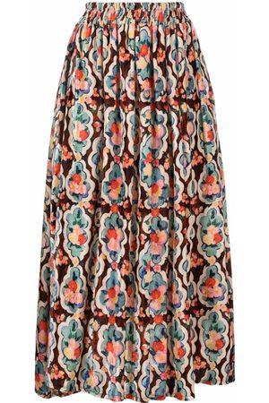 La DoubleJ Women Printed Skirts - Simple Matisse-print jacquard skirt
