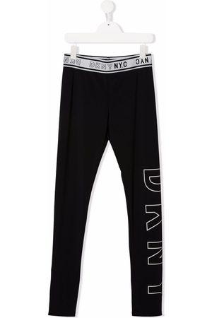 DKNY Girls Leggings - TEEN logo print leggings