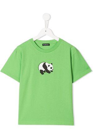 Balenciaga Boys Short Sleeve - Panda print T-shirt