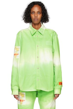 Heron Preston Tie-Dye Label Shirt