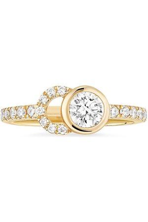 COURBET Women Rings - 18kt yellow CO half-pavé laboratory-grown diamond set ring