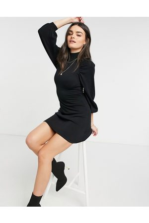 ASOS Women Casual Dresses - Knitted fit and flare dress with pleat sleeve detail in