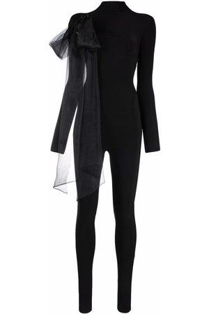 Atu Body Couture Women Jumpsuits - Oversized ribbon detail jumpsuit
