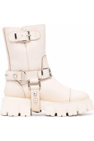 Philipp Plein Iconic Plein studded chunky boots