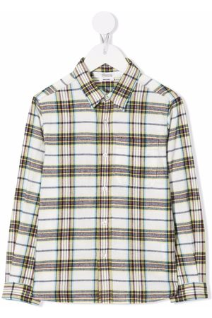 BONPOINT Boys Long Sleeve - Checked long-sleeve shirt