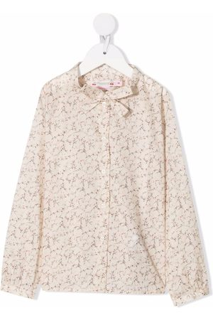 BONPOINT Girls Blouses - Printed cotton blouse