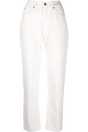 12 STOREEZ High-rise tapered leg jeans