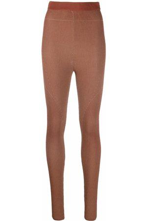 Jacquemus Women Leggings - Arancia high-waisted leggings