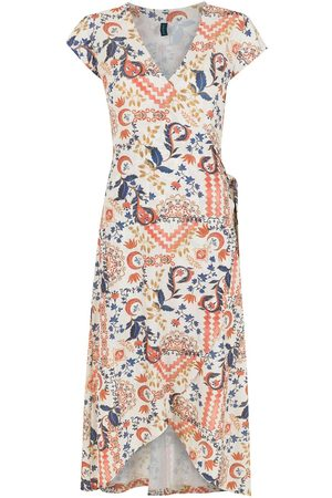 Lygia & Nanny Falcão tile-print wrap dress