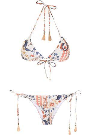 Lygia & Nanny Maya printed tassel-detail bikini
