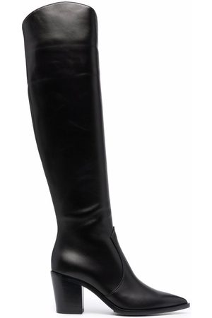 Gianvito Rossi Polished-finish pointed-toe boots