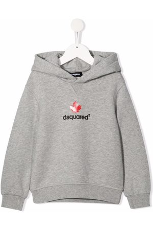Dsquared2 Boys Hoodies - Logo-print cotton hoodie