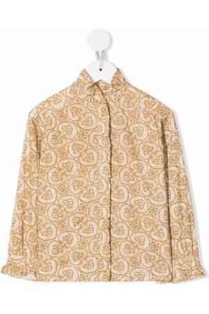 BONPOINT Ruffle-collar longsleeved blouse
