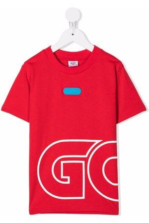 GCDS Boys Short Sleeve - Oversized logo-print T-shirt