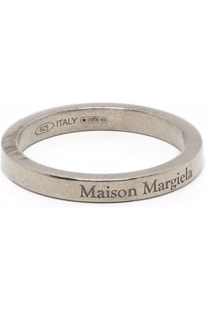 Maison Margiela Men Rings - Logo band ring