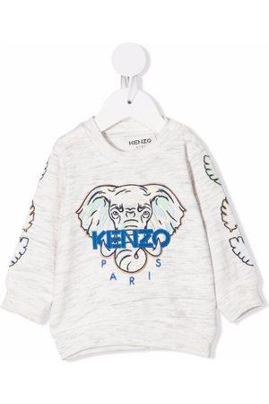 Kenzo Baby Sweatshirts - Embroidered-logo sweatshirt