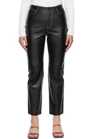 Proenza Schouler Proenza Schouler White Label Leather Straight-Leg Pants