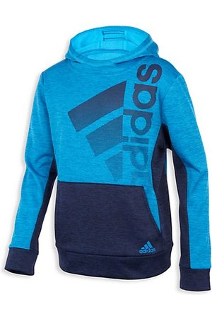 adidas Boys Hoodies - Little Boy's & Boy's Color Block Fade-Print Logo Hoodie