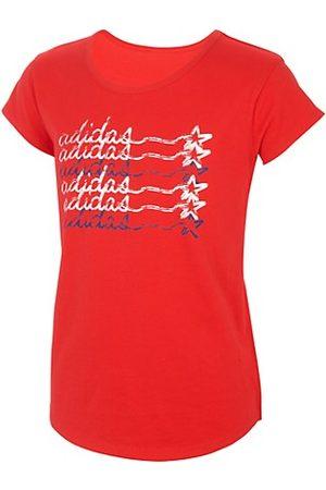adidas Little Girl's & Girl's Script Logo T-Shirt