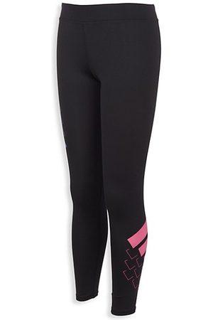 adidas Girls Leggings - Little Girl's & Girl's Logo Three-Stripe Leggings
