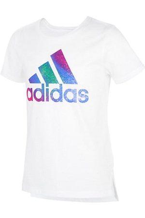adidas Girls Short Sleeve - Little Girl's & Girl's Logo Vent Cotton T-Shirt