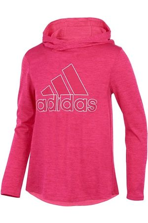 adidas Girls Long Sleeve - Little Girl's Logo Hooded Long-Sleeve T-Shirt