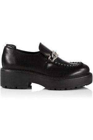 Miu Miu Loafers - Leather Lug Sole Driver Loafers