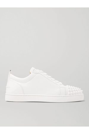Christian Louboutin Boys Sneakers - Louis Junior Spikes Cap-Toe Leather Sneakers