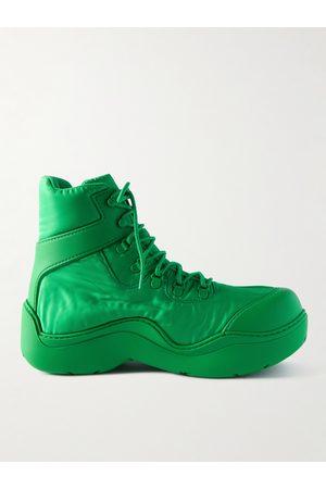 Bottega Veneta Leather-Trimmed Nylon Hiking Boots