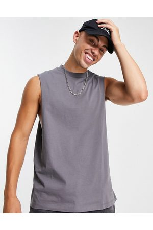 ASOS Organic relaxed fit vest in washed