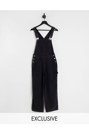 Reclaimed Vintage Inspired denim dungarees in washed