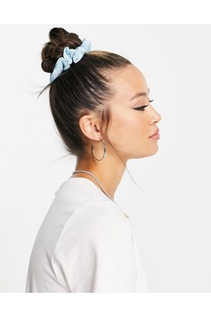 Pieces Pleated scrunchie in