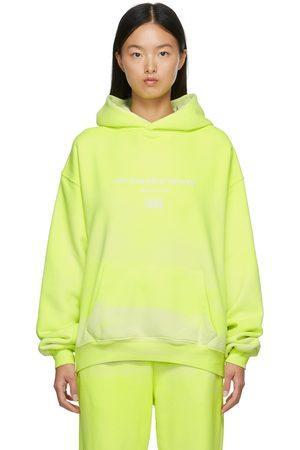 Women Hoodies - Alexander Wang Yellow Garment Dyed Hoodie