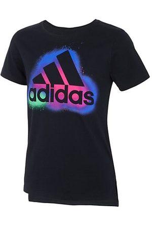 adidas Girls Short Sleeve - Little Girl's & Girl's Spray Paint-Print Logo T-Shirt
