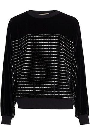 ALEXANDRE VAUTHIER Strass Stripe Sweatshirt