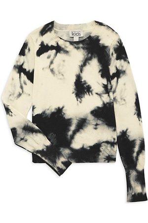 Autumn Cashmere Girl's Splotch Tie-Dye Sweater