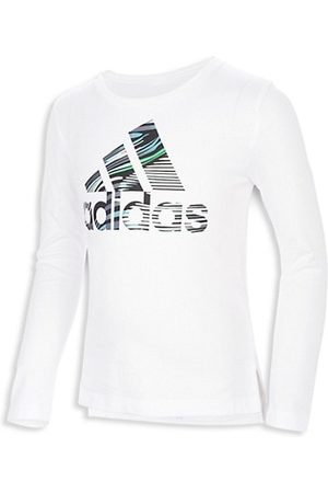 adidas Little Girl's Side Vent Long-Sleeve T-Shirt