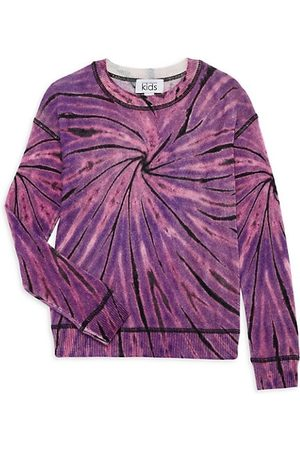 Autumn Cashmere Little Girl's & Girl's Swirl Tie-Dye Sweater