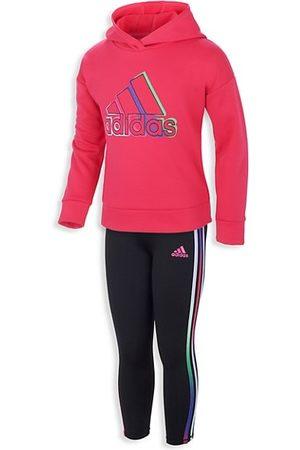 adidas Girls Hoodies - Little Girl's 2-Piece Hoodie & Leggings Set