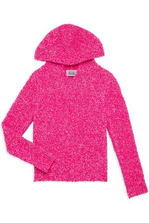 Autumn Cashmere Girl's Italian Bouclé Knit Hoodie