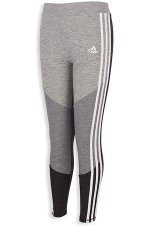 adidas Little Girl's & Girl's Tricolor Three-Stripe Leggings