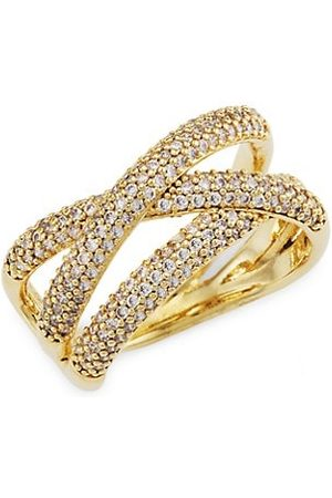 Theia 14K -Plated & Cubic Zirconia Triple Band Adjustable Ring