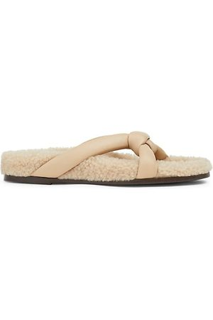 Lafayette 148 New York Women Sandals - Honore Shearling Sandals