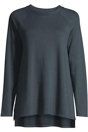 Eileen Fisher Raglan-Sleeve Crewneck Tunic