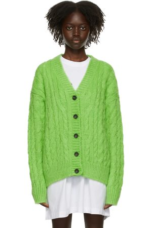 Women Cardigans - MSGM Cable Knit Cardigan