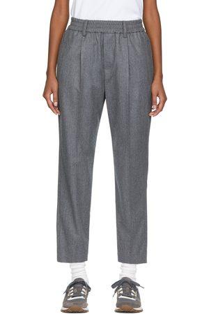 Brunello Cucinelli Wool Flannel Pleated Trousers