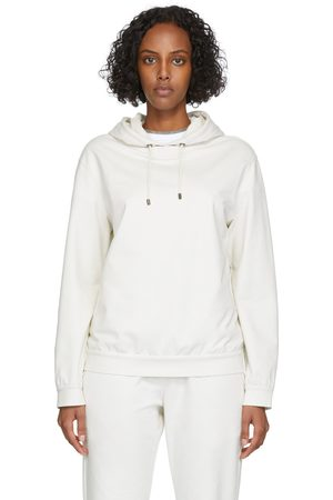 Women Hoodies - Brunello Cucinelli Off-White French Terry Hoodie