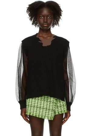 MSGM Wool & Tulle Sweater