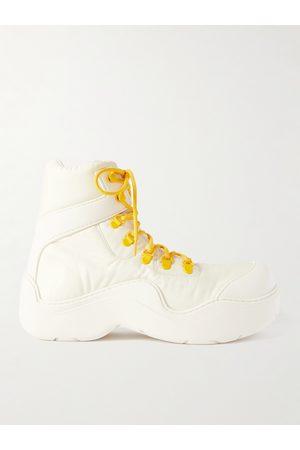 Bottega Veneta Men Outdoor Shoes - Leather-Trimmed Nylon Hiking Boots